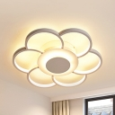 Aluminum Flower LED Flush Mount Light Modern Ceiling Light in Warm/White for Living Room