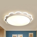Kid Bedroom Bloom Flush Mount Light Acrylic Simple Style Ceiling Lamp in Warm/White