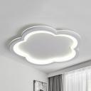 Nordic Style Flower Flush Ceiling Light Metal LED Ceiling Lamp in Warm/White for Study Room