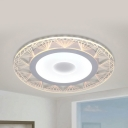 Modern Diamond Edge LED Flush Mount Light Acrylic Ceiling Lamp in Warm/White for Living Room