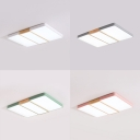 Warm/White Lighting LED Flushmount Light Simple Style Acrylic Ceiling Fixture for Living Room