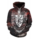 Harry Potter Gryffindor Lion Pattern Long Sleeve Sport Loose Hoodie