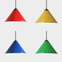 Metal Conical Shade Pendant Lighting Factory Warehouse One Light Industrial Hanging Light