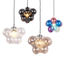 Balloon Shape Chandelier Cloth Shop 1 Light Lovely Amber/Clear/Multi-Color/Smoke Glass Hanging Light