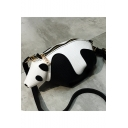 Cute Panda Shape Black and White Crossbody Shoulder Bag 24*12*11 CM