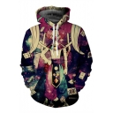 New Fashion Poker Clown 3D Print Long Sleeve Unisex Hoodie with Pocket