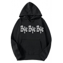 Fashion Letter BYE BYE BYE Printed Long Sleeve Pullover Casual Loose Hoodie
