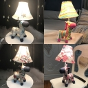 Toy Horse LED Desk Light 1 Light Cute Fabric Eye-Caring Plug In Reading Light for Study Room