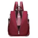 New Stylish Snakeskin Pattern Patched Zipper Embellishment Travel Bag Backpack for Girls 31*30*13 CM