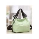 Fashion Plain Large Capacity Shoulder Messenger Bag for Women