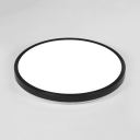 Sound Activated Round Ceiling Lamp Modern Acrylic LED Flush Mount Light in Black/White for Kitchen