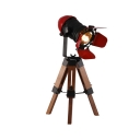 1 Light Camera Shape Desk Light Creative Edison Bulb Rotatable Table Light in Red for Study Room