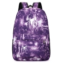 Popular Fashion Spider Lightning Printed Sports Bag School Backpack with Zipper 31*14*45 CM