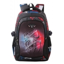 Hot Fashion Spider Printed Black and Red School Bag Backpack for Students 46*30*22 CM