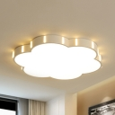 Bloom Study Room LED Ceiling Light Acrylic Simple Style Flush Mount Light in Warm/White