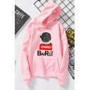 OMG Cartoon Girl Pattern Long Sleeve Sport Loose Hoodie for Students