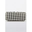 Trendy Printed Rhinestone Embellishment Party Clutch Bag for Women 18*5.5*8 CM