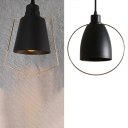 Industrial Bowl/Bucket Pendant Light Metal 1 Light Black Hanging Light for Dining Room Hallway