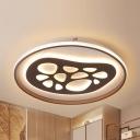 Creative Abstract Pattern Flush Ceiling Light Acrylic LED Flush Light in Warm/White for Nursing Room