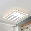 Creative Square Piano Ceiling Light Metal Warm Lighting/White Lighting/2 Lighting Mode for Study Room