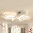 Metal Airplane Ceiling Mount Light Child Bedroom Eye-Caring Modern Blue/White LED Flush Light in Warm/White