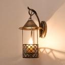Creative Gazebo Shape Wall Light Single Light Metal Sconce Light in Aged Brass for Corridor