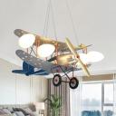 Four Lights Gilder Pendant Light Modern Cool Metal Pendant Lamp in Silver for Nursing Room