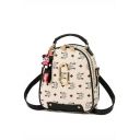 Fashion Classic Printed Letter Ribbon Mickey Mouse Embellishment Shoulder Bag Backpack 20*10*23 CM