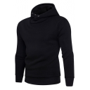 Men's Hot Fashion Simple Plain Long Sleeve Casual Hoodie