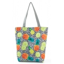 Popular polka Dot Fruit Printed Black and White Shoulder Shopper Bag 27*11*38 CM