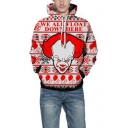 WE ALL FLOAT DOWN HERE Letter Print Red Loose Fit Unisex Hoodie with Pocket