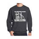 Stylish Letter IS THAT IT'S REAL Printed Crewneck Long Sleeve Casual Loose Sweatshirt