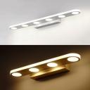 White Oval LED Vanity Light 4/6 Heads Aluminum Antifogging Wall Light in Warm/White for Bathroom