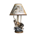 Study Room Wolf Desk Light Resin 1 Light Animal Theme Brown LED Reading Light