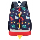 Big Capacity Lovely Cartoon Dinosaur Pattern Oxford Cloth Backpack for Children 30*25*10 CM