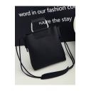 Fashion Solid Color PU Leather Portable Shoulder Messenger Bag 25*6*26 CM