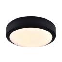 Black Circle LED Ceiling Mount Light Waterproof Motion Sensor & Radar Sensor Flush Light for Porch