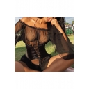 Womens Sexy Off the Shoulder Flared Long Sleeve Sheer Mesh Black Mini Dress