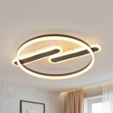 Nordic Style Slim Panel Flush Mount Light Acrylic Third Gear Ceiling Light for Nursing Room