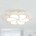Cute Petal LED Ceiling Lamp Acrylic Third Gear/White Lighting Flush Ceiling Light for Girls Bedroom