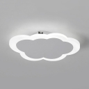 Cloud Shaped LED Ceiling Mount Light Contemporary Acrylic Ceiling Lamp in Warm/White for Study Room