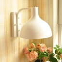 Contemporary Onion Shaped Wall Sconce Metal 1 Light Black/White Wall Light for Study Room Bedroom