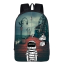 Popular Fashion Galaxy Space Astronaut Printed School Bag Backpack 29*16*42 CM