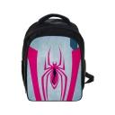 Stylish Spider Printed Black Polyester School Bag Backpack for Juniors 24*14.5*33 CM