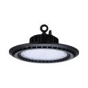 150W Black LED Bay Lighting Slim UFO Aluminum Long Life Hanging Light for Showroom Stadium