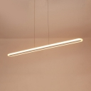 47 Inch LED Linear Hanging Lamp Office Shop Energy Efficient Acrylic LED Hanging Light in Warm/White