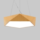 Simple Style Suspension Light Eye-Caring Acrylic Pendant Light in Neutral/Warm/White for Bedroom