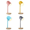 Macaron Colored Dome Reading Light 1 Light Contemporary Metal LED Desk Lamp for Dormitory Bedroom