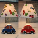 Resin Cartoon Car Desk Light 1 Light Creative Study Light in Blue/Red for Child Bedroom