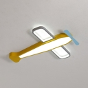 Acrylic Airplane Flush Mount Light Nursery Cartoon LED Ceiling Light with Warm/White Lighting